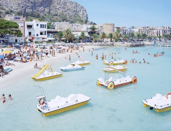 Mondello Paddle Boats by Massimo Vitali at Massimo Vitali