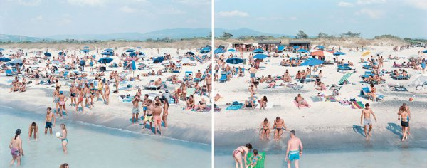 Rosignano (diptych) by Massimo Vitali at