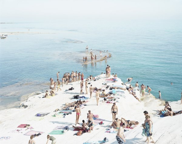 Scala De Turchi Island by Massimo Vitali at Vogtle Contemporary