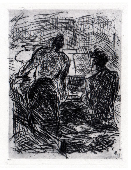 Am Klavier by Max Beckmann