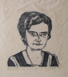 Bildnis Frau H.m. (naila) by Max Beckmann at William Chambers Art