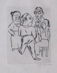 Ebbi: Illustration Fur Akt I by Max Beckmann at William Chambers Art