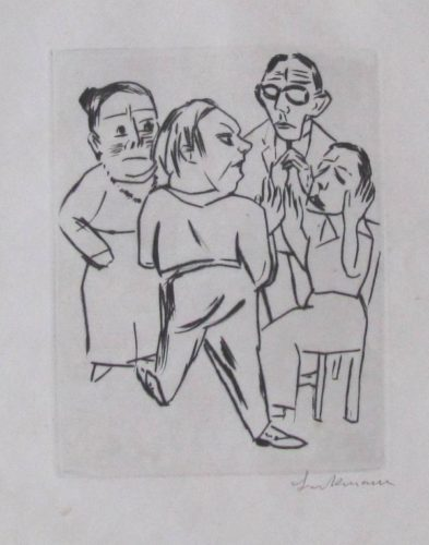 Ebbi: Illustration Fur Akt I by Max Beckmann at Max Beckmann