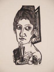 Frau Mit Kerze by Max Beckmann at Galerie Henze & Ketterer & Triebold