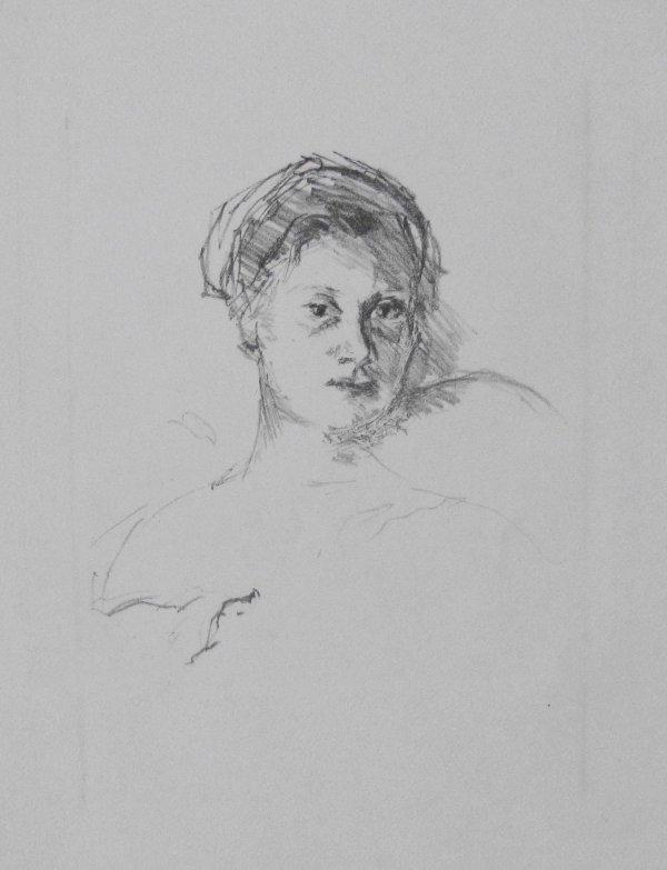 Portrait Minne Beckmann-tube by Max Beckmann