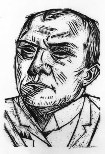 Selbstbildnis (self-portrait) by Max Beckmann at