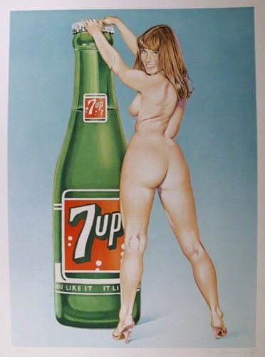 7up You Like It , It Likes You by Mel Ramos