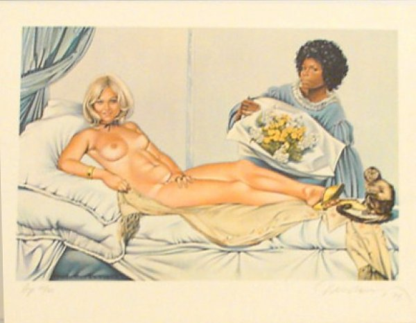 Manet's Olympia by Mel Ramos at David Lawrence Gallery