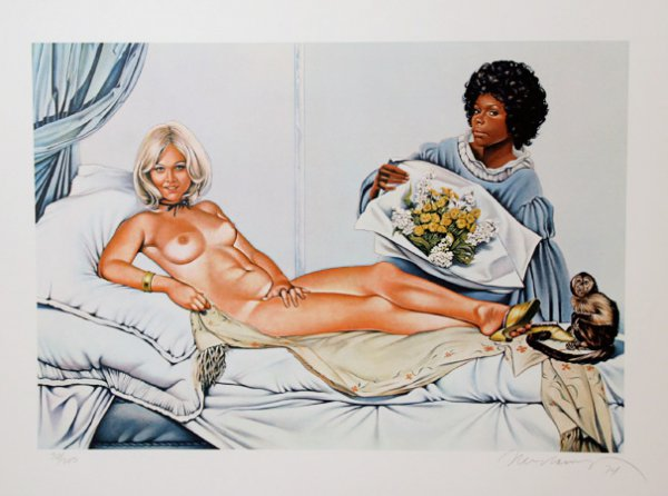 Manet's Olympia by Mel Ramos at RoGallery