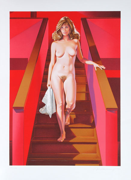 Nude Descending A Staircase by Mel Ramos