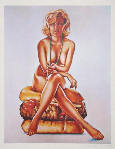 Verna Burger by Mel Ramos at