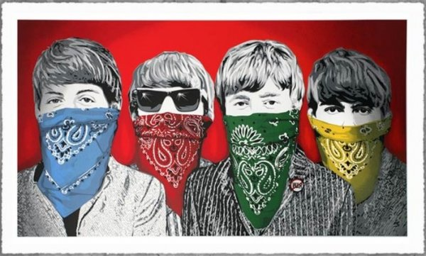 Bandidos (red) by Mr. Brainwash