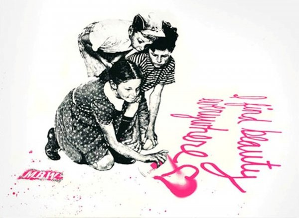 I Find Beauty Everywhere by Mr. Brainwash