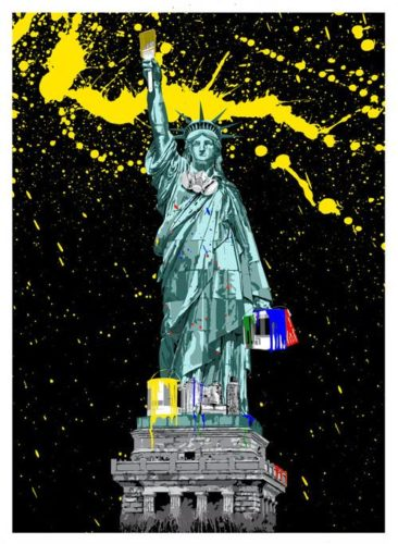 Liberty by Mr. Brainwash at Lieberman Gallery