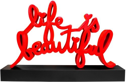 Life Is Beautiful Monumental Sculpture by Mr. Brainwash