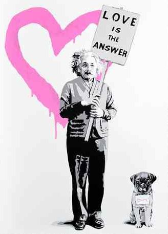 Love Is The Answer – Mc2 Pink by Mr. Brainwash