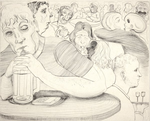 Drinking With Death Kiss by Nicole Eisenman