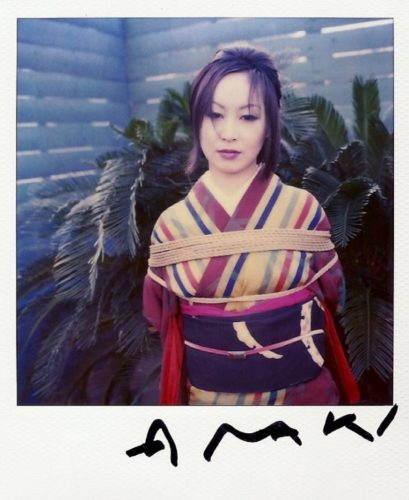 Woman Standing (palmtrees) by Nobuyoshi Araki at
