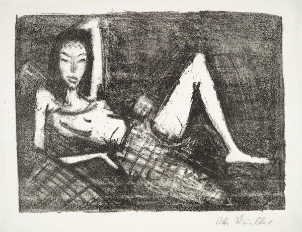 MÄdchen Auf Dem Kanapee by Otto Mueller at Galerie Henze & Ketterer & Triebold