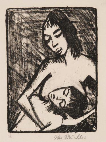 Mutter Und Kind (kleine Fassung – Maschka Und Eugen; Zwei Menschen) by Otto Mueller at