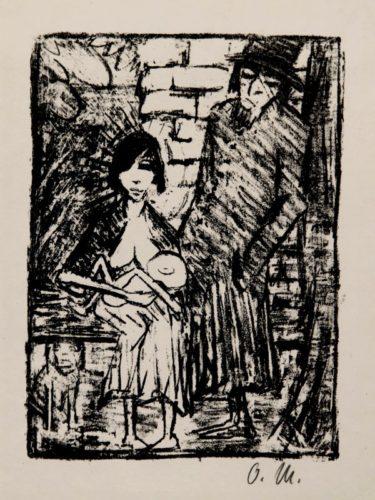 Polnische Familie (judenfamilie; Polen) by Otto Mueller at