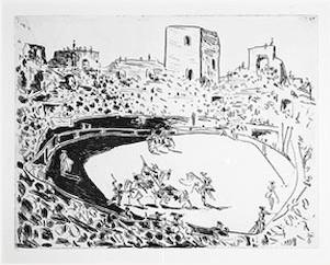 Corrida En Arles by Pablo Picasso at John Szoke Gallery (IFPDA)