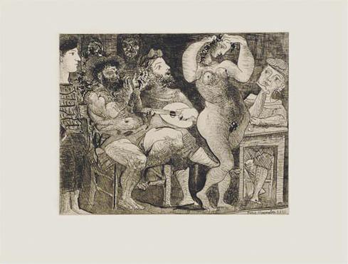 En La Taberna. Pêcheurs Catalans En Bordée by Pablo Picasso at John Szoke Gallery (IFPDA)