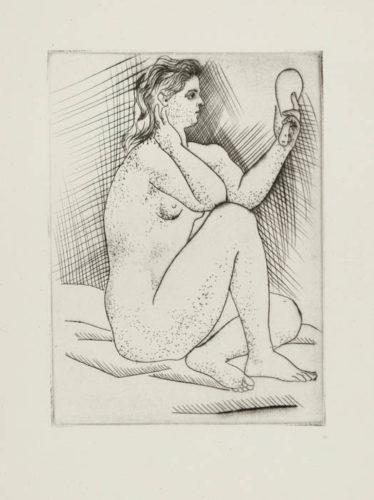 Femme Au Miroir by Pablo Picasso at