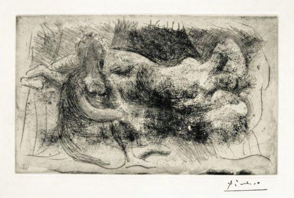 Femme Assise Et Femme Etendue by Pablo Picasso