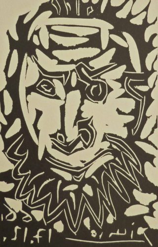 Greeting Card For Madoura Gallery by Pablo Picasso at Gilden's Art Gallery (IFPDA)