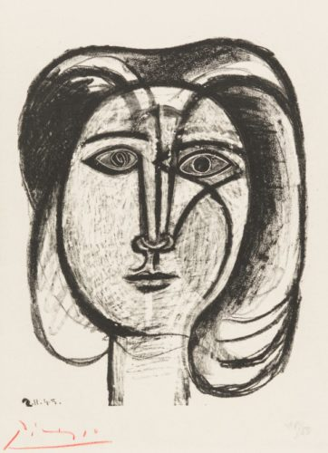 Head Of A Woman by Pablo Picasso