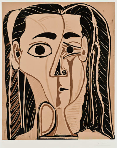 Jacqueline Au Bandeau De Face by Pablo Picasso at