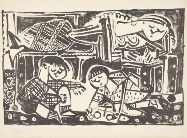 La mère et les enfants by Pablo Picasso at