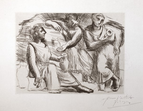 La Source: (trois Femmes à La Fontaine) by Pablo Picasso at Pablo Picasso