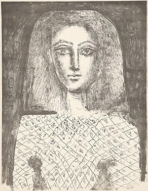 Le corsage à carreaux by Pablo Picasso