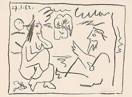 Le Déjeuner Sur L´herbe by Pablo Picasso
