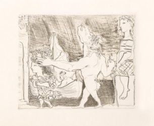 Minotaure Aveugle Guidé Dans La Nuit Par Une Petit by Pablo Picasso at John Szoke Gallery (IFPDA)