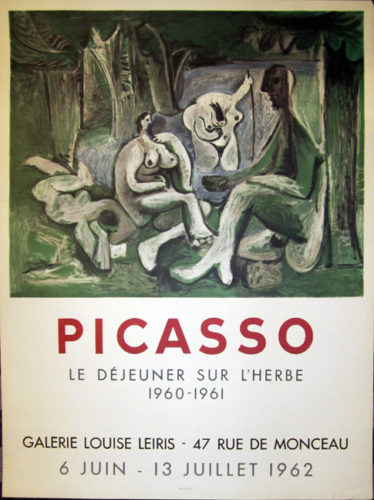 Picasso, Le Dejeuner Sur L'herbe, Galerie Louise Leiris by Pablo Picasso