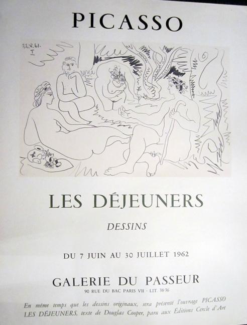 Picasso, Les Dejeuners, Dessins, Galerie Du Passeur by Pablo Picasso