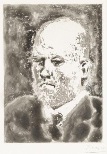 Portrait De Vollard I by Pablo Picasso at Pablo Picasso