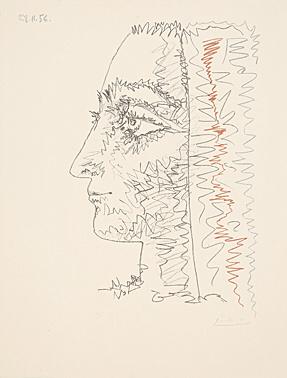 Profil En Trois Couleurs by Pablo Picasso