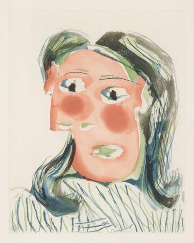 TÊte De Femme No. 6. Portrait De Dora Maar by Pablo Picasso at Pablo Picasso