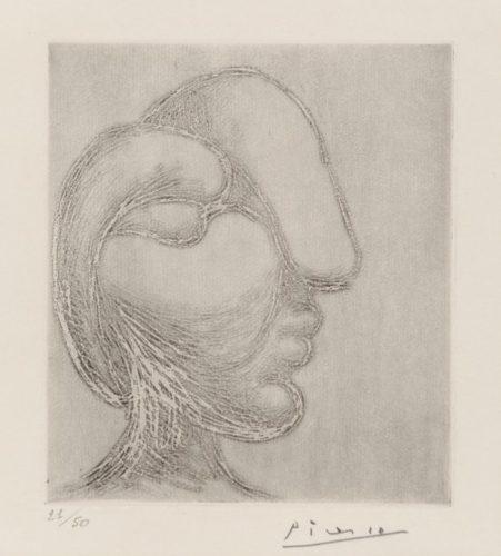 TÊte De Femme Or Sculpture. Profil De Marie-thÉrÈse by Pablo Picasso