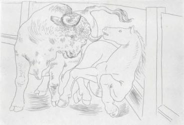Taureau Et Cheval Dans L'arène by Pablo Picasso at John Szoke Gallery (IFPDA)