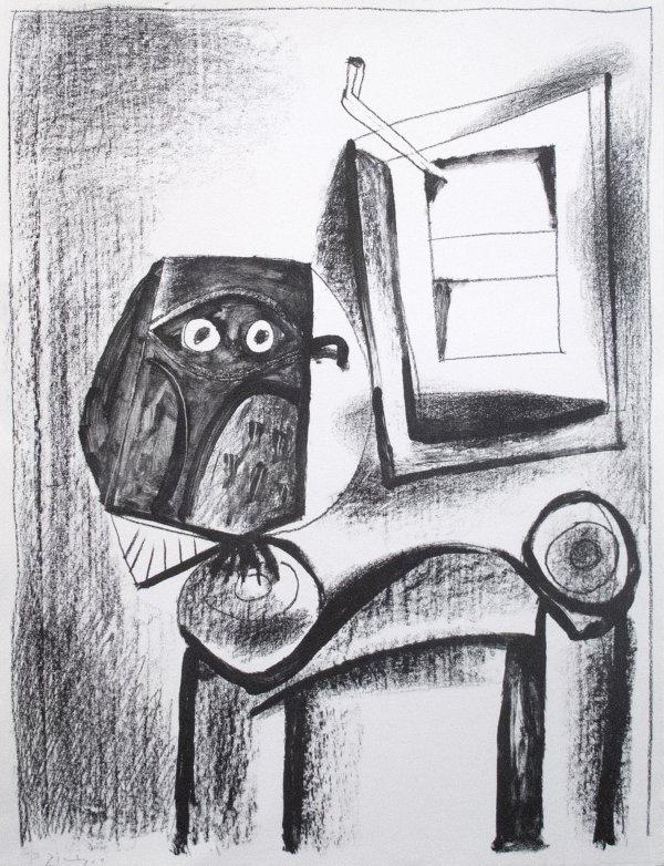 The Black Owl by Pablo Picasso