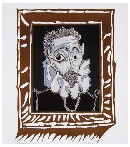 L'homme à La Fraise (man With Ruff) by Pablo Picasso