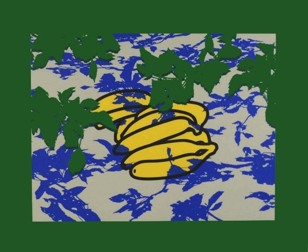 Bananas  With Leaves by Patrick Caulfield at