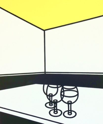 Black And White Cafe by Patrick Caulfield at