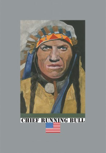 Chief Running Bull by Peter Blake