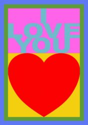 I Love You (replay Porfolio) by Peter Blake at